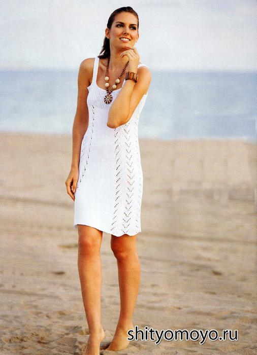 Вязание спицами летние платья и сарафаны 6