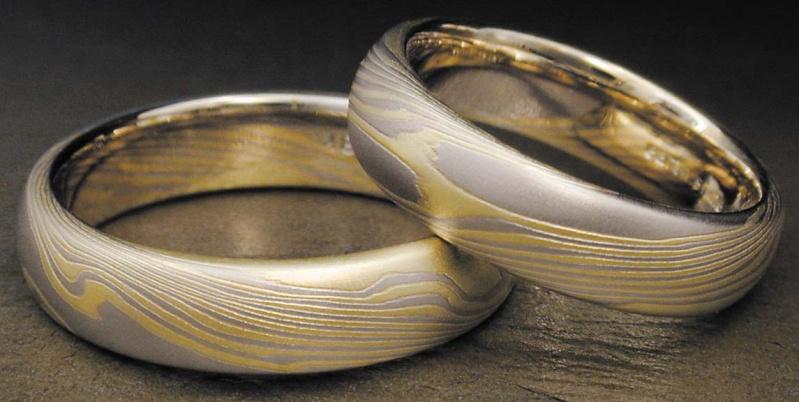 Кольца обручальные мокуме гане