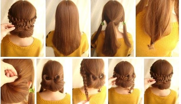Как сделать красивую но лёгкую причёску поэтапно