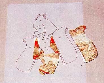 Панно с японскими куклами в технике пэчворка без иголки (14) (367x293, 67Kb)