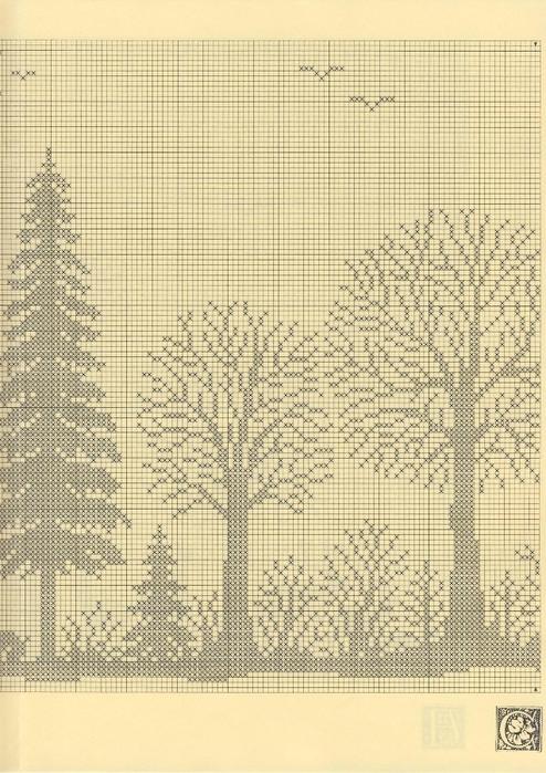 Вязание штор на кухню спицами