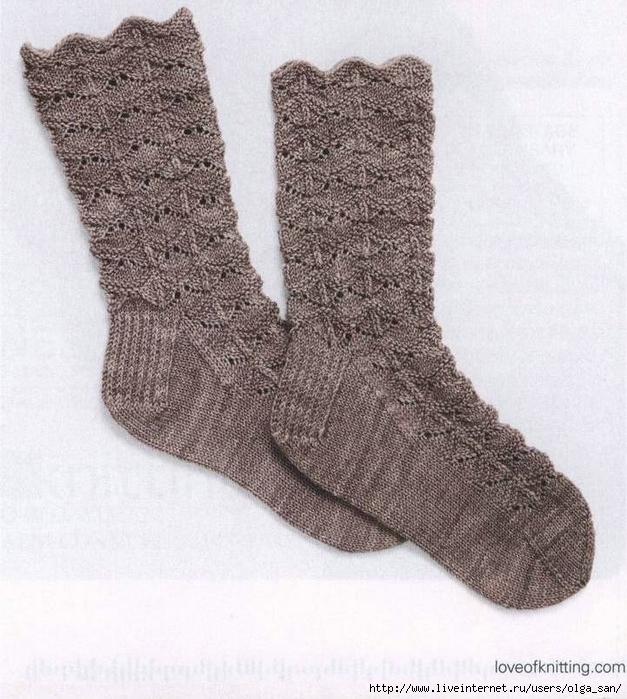 узоры для носков спицами с описанием