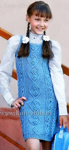 Детское платье-сарафан связано