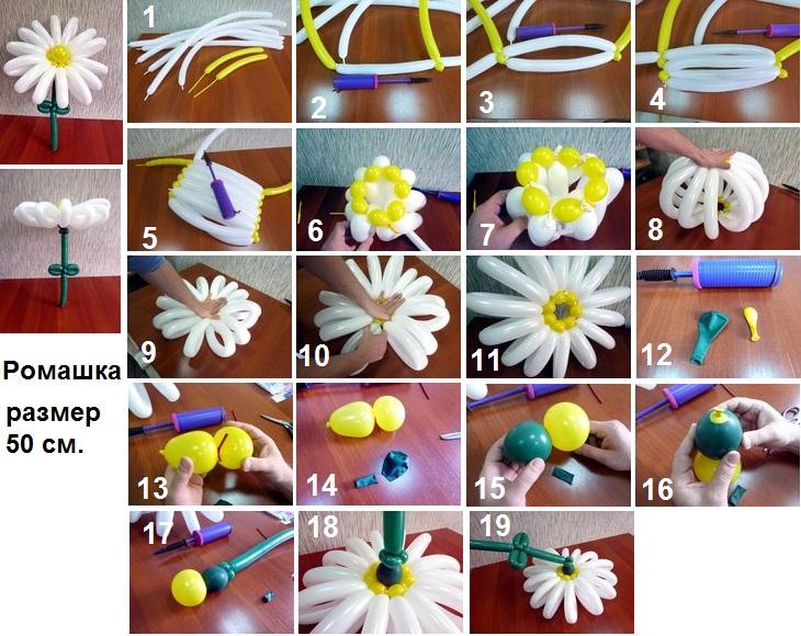 Сделать цветок из воздушного шара своими руками
