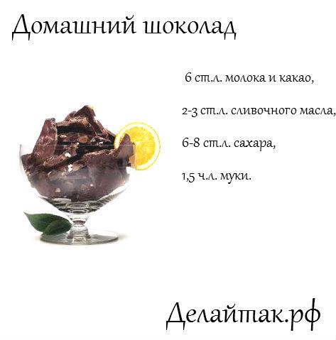 Как сделать шоколад в домашних условиях без какао