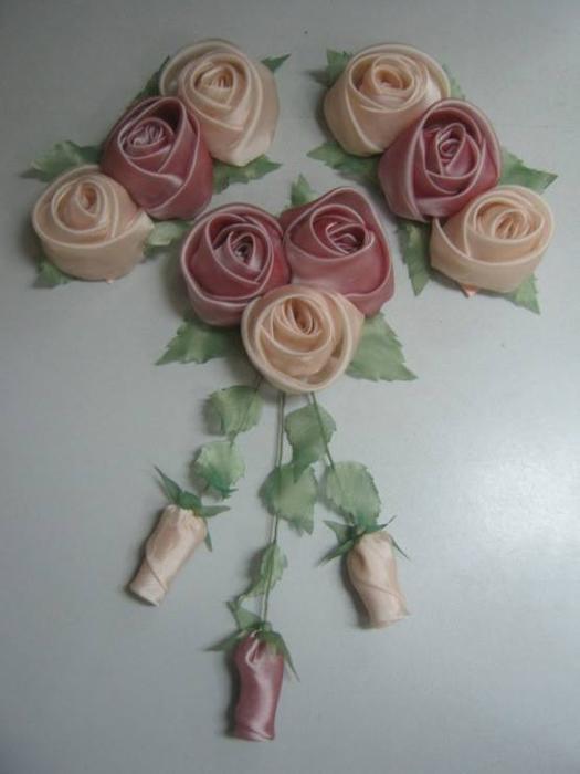 Цветы из органзы своими руками фото