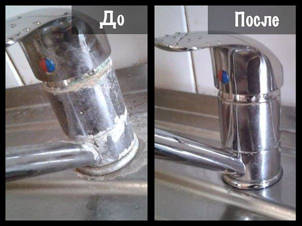 Как почистить смеситель в домашних условиях