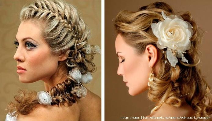прически в романтическом стиле на средние волосы
