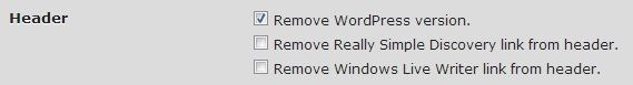 Remove WordPress version GD Press Tools
