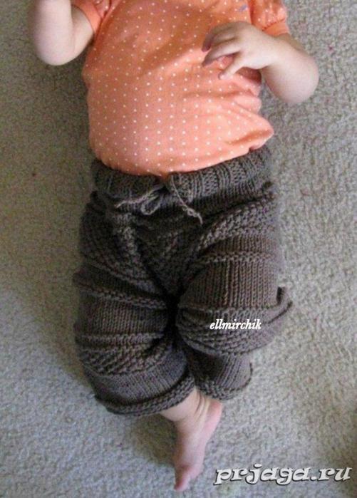 Вязание штанишек спицами