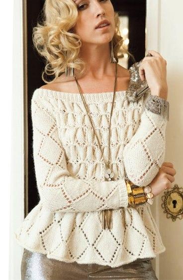 Пуловер С Баской
