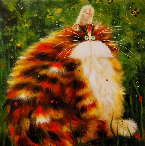 смешные коты Kim Haskins (590x593, 202Kb)