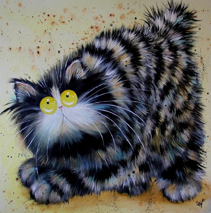 смешные коты Kim Haskins 7 (695x700, 422Kb)