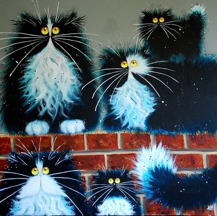 смешные коты Kim Haskins 9 (700x696, 450Kb)