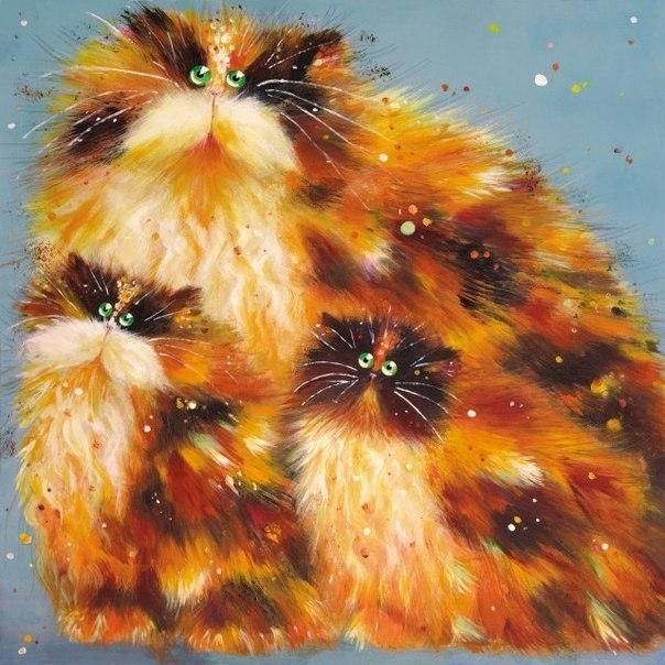 смешные коты Kim Haskins 11 (604x604, 234Kb)