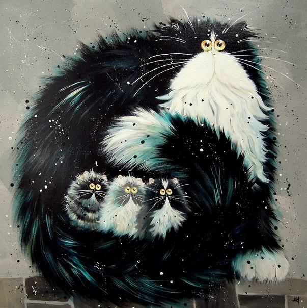 смешные коты Kim Haskins 13 (603x604, 273Kb)