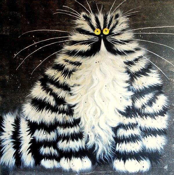 смешные коты Kim Haskins 15 (600x604, 329Kb)