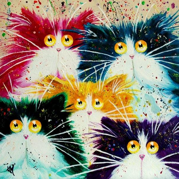 смешные коты Kim Haskins 19 (604x604, 366Kb)