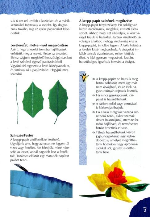 Цветы из креповой (гофрированной) бумаги - журнал (8) (486x700, 207Kb)