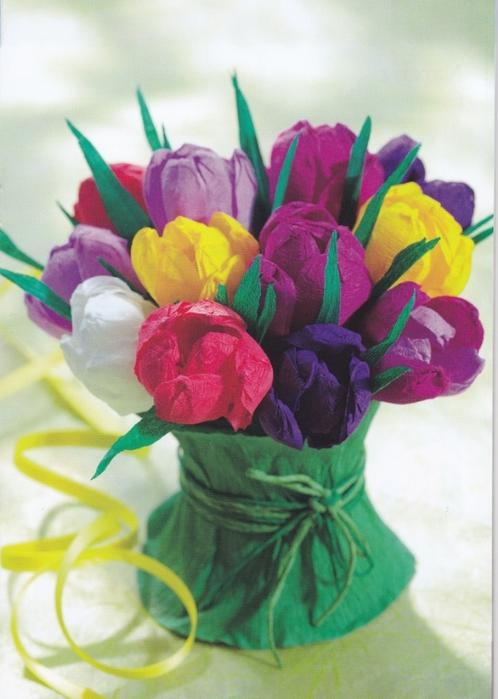Цветы из креповой (гофрированной) бумаги - журнал (10) (498x700, 242Kb)