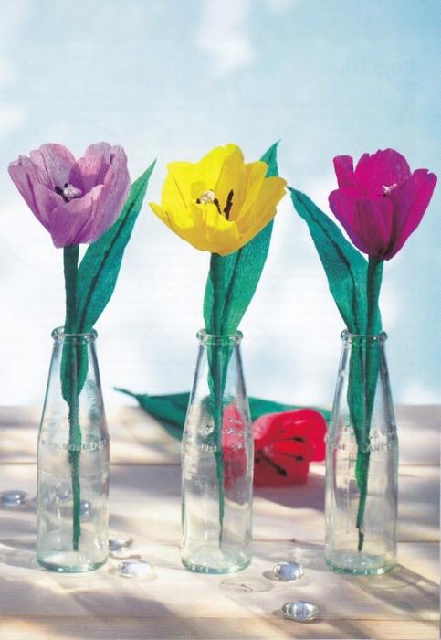 Цветы из креповой (гофрированной) бумаги - журнал (16) (483x700, 235Kb)