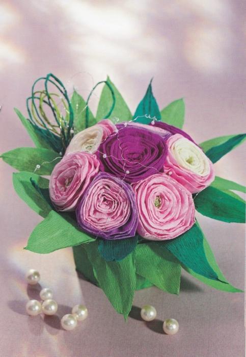 Цветы из креповой (гофрированной) бумаги - журнал (18) (483x700, 256Kb)
