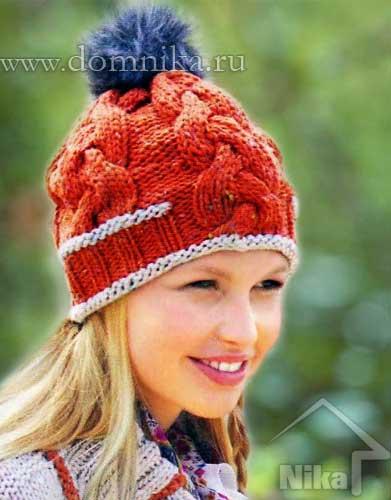 Молодежная шапочка на зиму