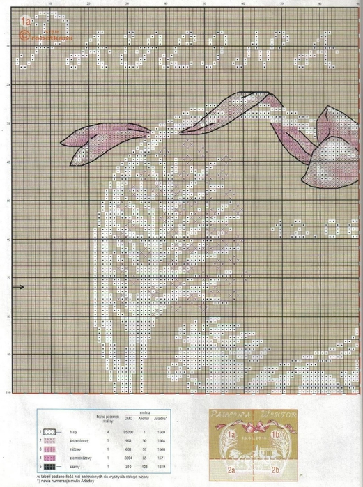 Схема вышивки: