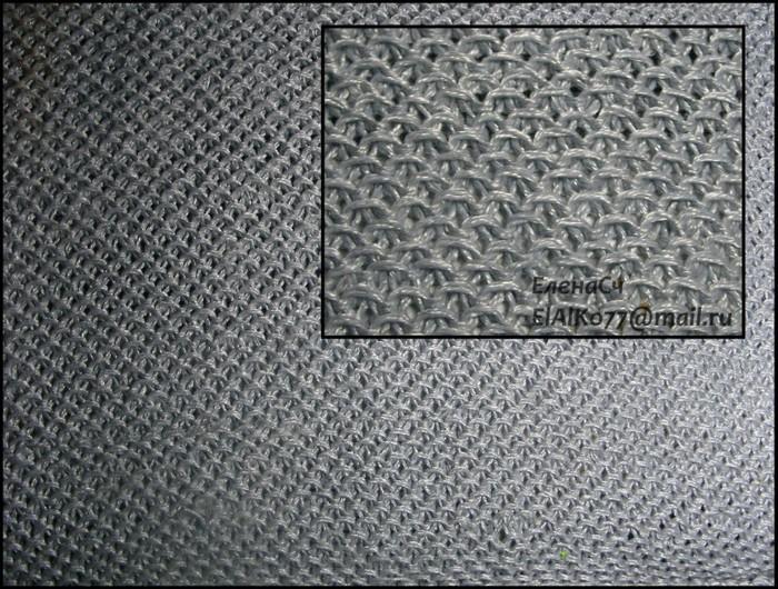 Вязание кольчуга схема спицами 37