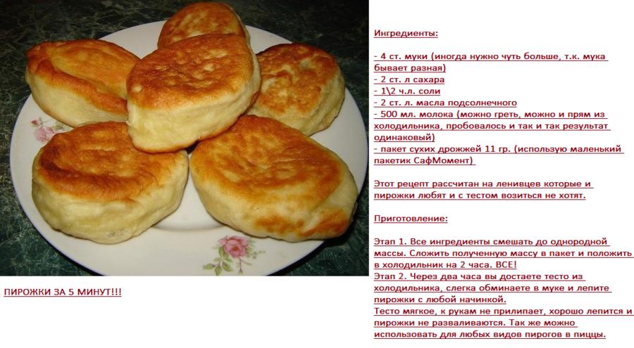 Пирожки рецепт в домашних условиях в духовке