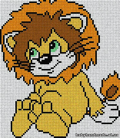 Львенок схема для вязания