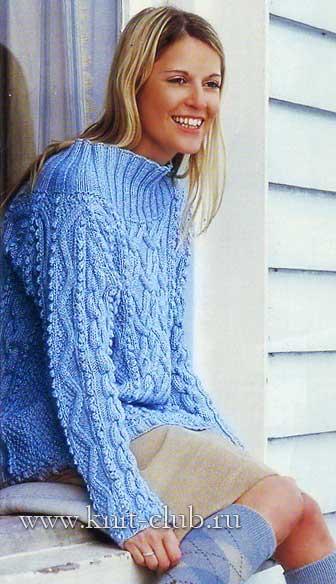 Размеры вязаного свитера: 54