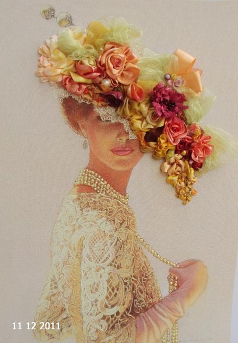 лиру Татьяна вышивка лентами29 (486x700, 378Kb)