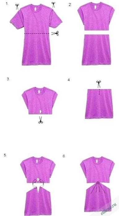 Как из платья сделать топ