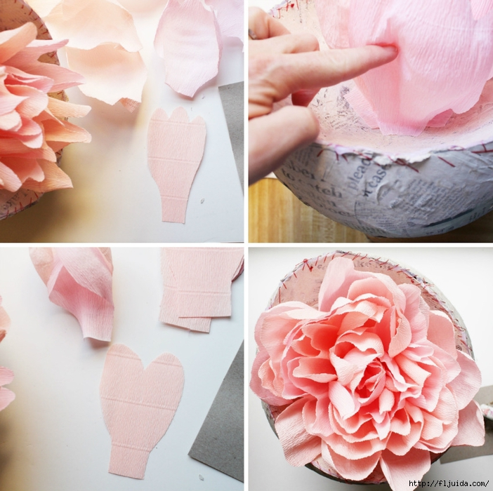 Как сделать большие пионы из бумаги