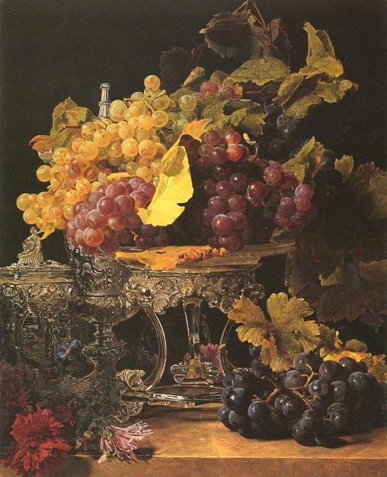 виноград натюрморт, 1841