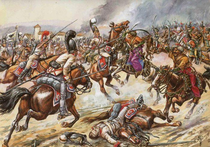 10 Аустерлиц Кавалергарды против егерей и мамелюков (700x492, 113Kb)