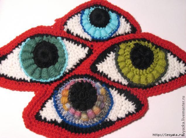 """爱尔兰花边教程:""""这是眼睛吗?""""(大师班) - maomao - 我随心动"""