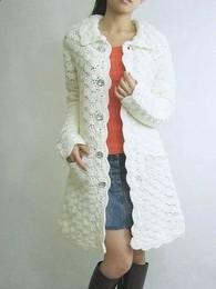 Пальто Вязание крючком и спицами схемы и модели Как связать женское пальто