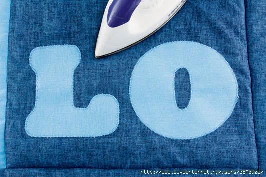 Как сшить лоскутки из джинсы
