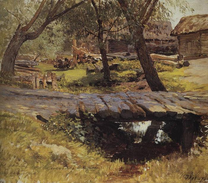 Мостик. Саввинская слобода. 1884 (700x616, 118Kb)