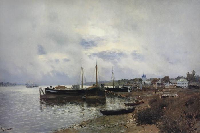 После дождя. Плёс. 1889 (700x466, 35Kb)