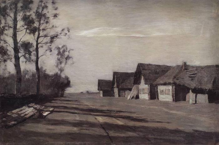 Лунная ночь. Деревня. 1897 (700x465, 42Kb)