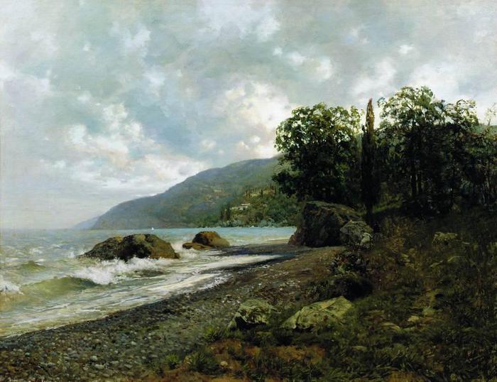Крымский пейзаж. 1887 (700x538, 60Kb)