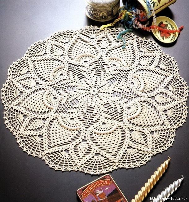 вязание крючком. салфетки (1) (610x652, 397Kb)