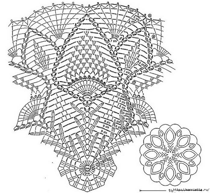 вязание крючком. салфетки (2) (700x639, 372Kb)