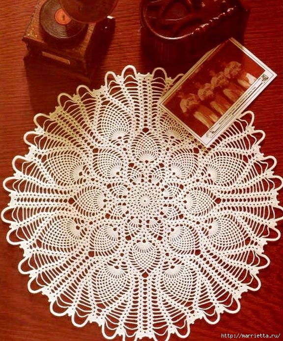 вязание крючком. салфетки (3) (576x693, 411Kb)