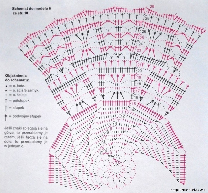 вязание крючком. салфетки (8) (700x650, 394Kb)