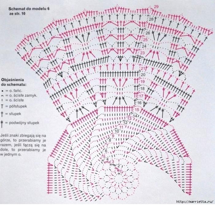 вязание крючком. салфетки (10) (700x666, 402Kb)