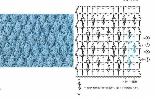 Вязание крючком объёмные узоры схемы 2